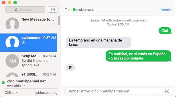 SETUP: Secure Chat Using Mac Messages – PSMail net support pages